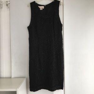Laurence Kazar Vintage Black Silk Sequin Dress